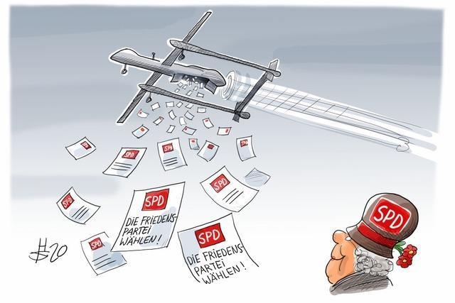 Einzige Drohnennutzung, der die SPD zustimmt