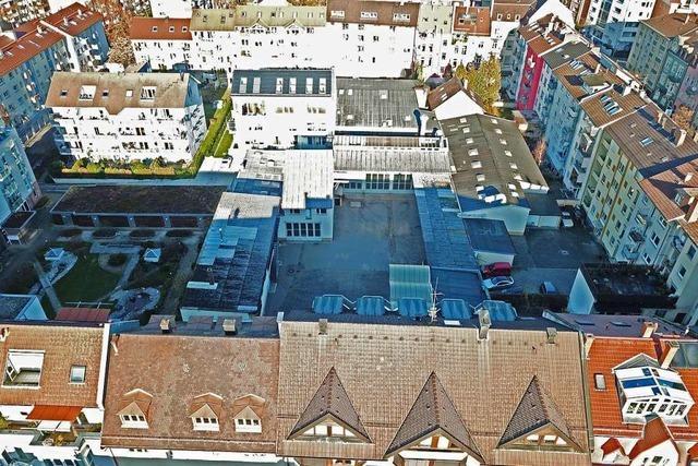 In einem Freiburger Hinterhof startet bald ein größeres Bauprojekt