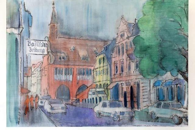 Aquarelle des Lahrer Künstlers Günter H. Schüßler werden versteigert
