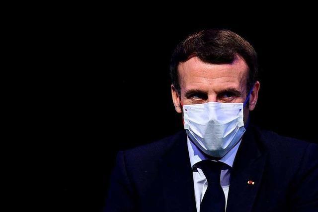 Präsident Emmanuel Macron positiv auf Corona getestet