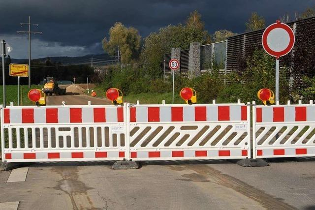 Unmut im Kandertal: Die L134 bleibt bis März gesperrt