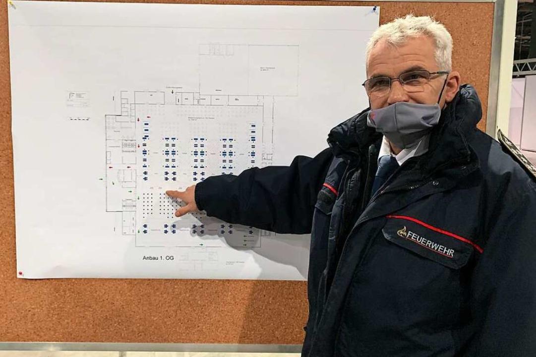 Offenburgs Feuerwehrchef Peter Schwinn...t, die Software allerdings noch nicht.    Foto: Helmut Seller