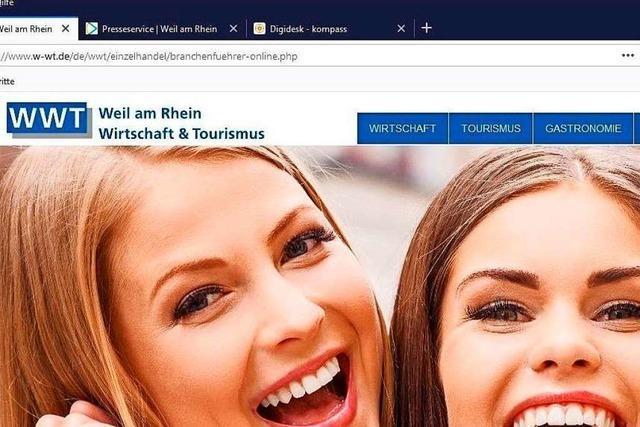 Bei welchen Geschäften in Weil am Rhein man digital einkaufen kann