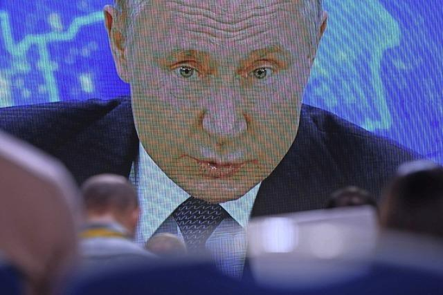 Putin schimpft auf den Westen