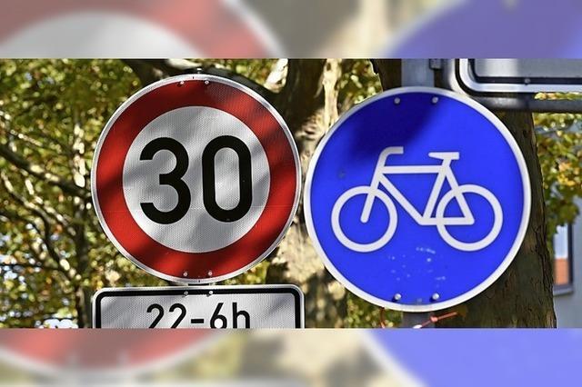 Tempo 30 oder 40 für Sicherheit, gegen Lärm