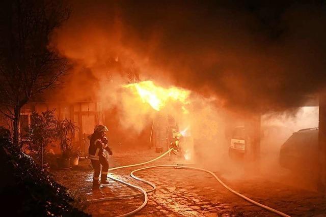 Ferkel sterben bei Brand eines Bauernhofs in Nonnenweier
