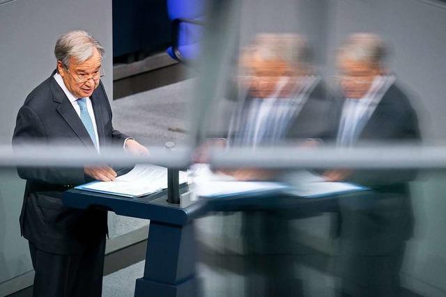 Ein großes Lob für Deutschland von António Guterres – und eine Mahnung