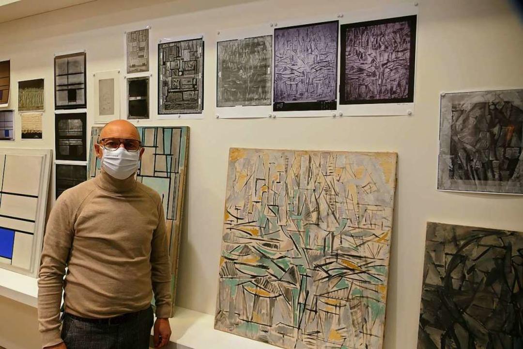 Röntgen- und UV-Aufnahmen (oben im Fot...se Piet Mondrians besser zu verstehen.  | Foto: Michael Baas