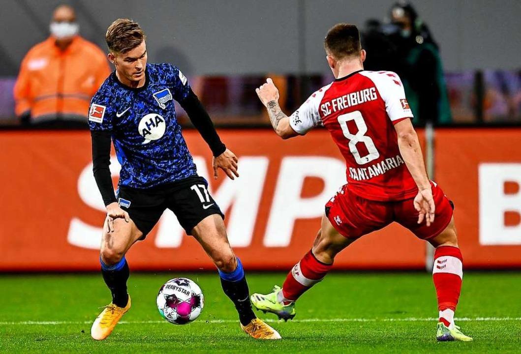 Baptiste Santamaria war wieder einmal wertvoll für das Freiburger Spiel.  | Foto: SC Freiburg/Achim Keller