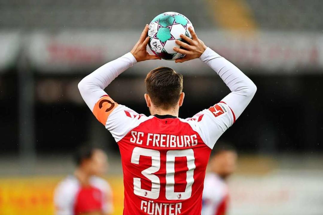 Christian Günter war wie gewohnt Antreiber der Freiburger.  | Foto: SC Freiburg/Achim Keller