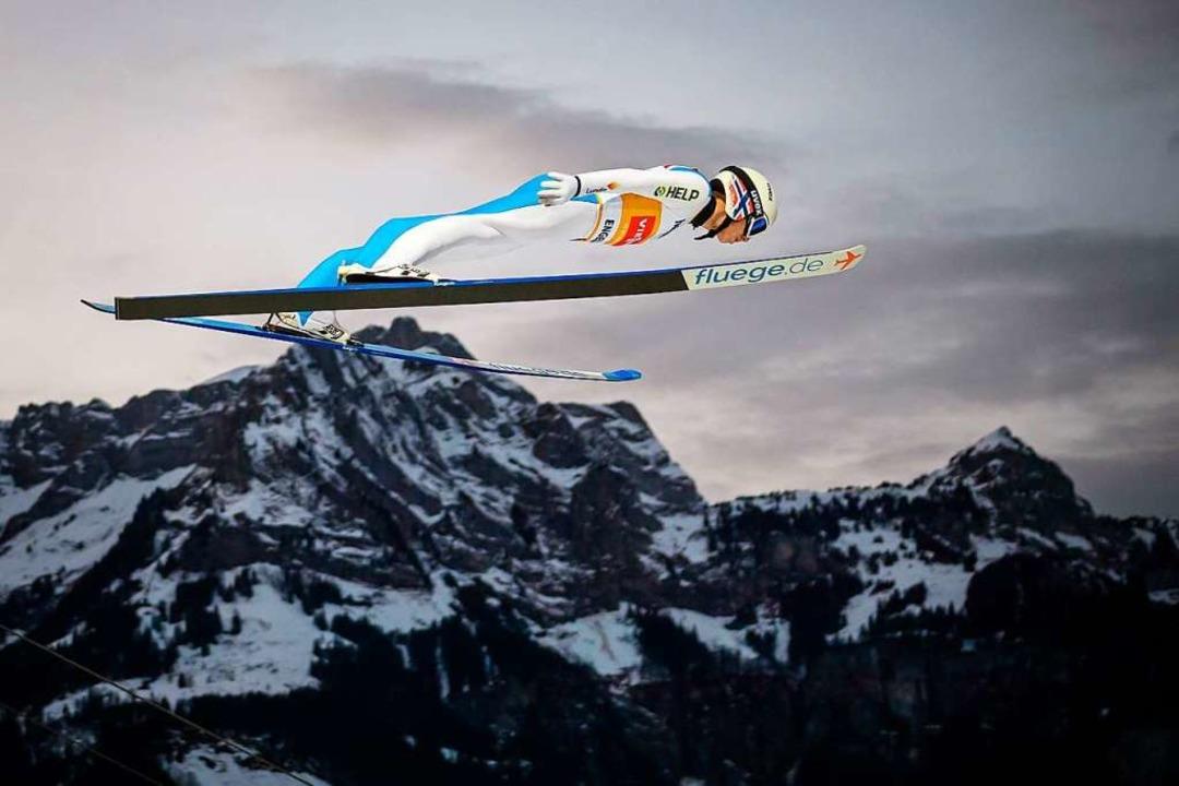 Fliegender Berg-Adler: Halvor Egner Granerud  | Foto: FABRICE COFFRINI (AFP)