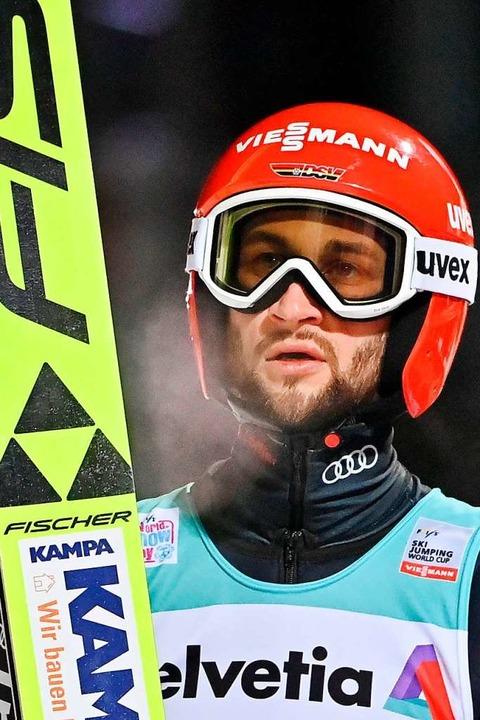 Einmal Zweiter, einmal Vierter in Engelberg: Markus Eisenbichler  | Foto: FABRICE COFFRINI (AFP)