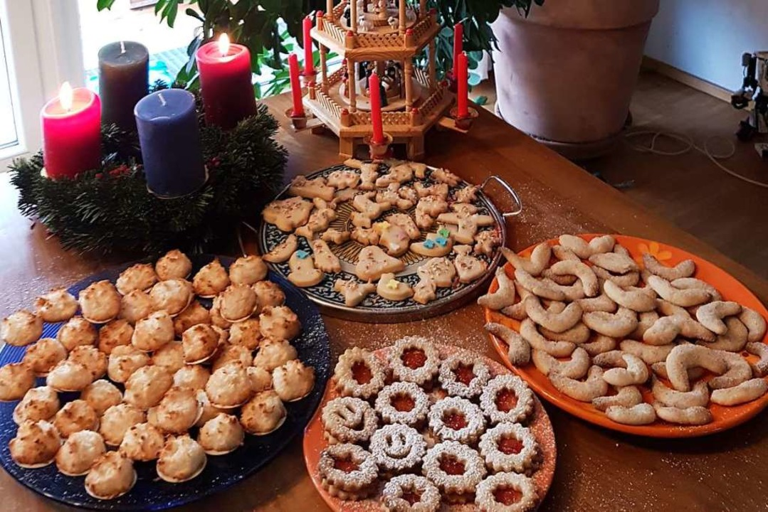 Einen leckeren Vorrat an Weihnachtsplä...nline-Backkurs von Bensels Kochschule.  | Foto: privat