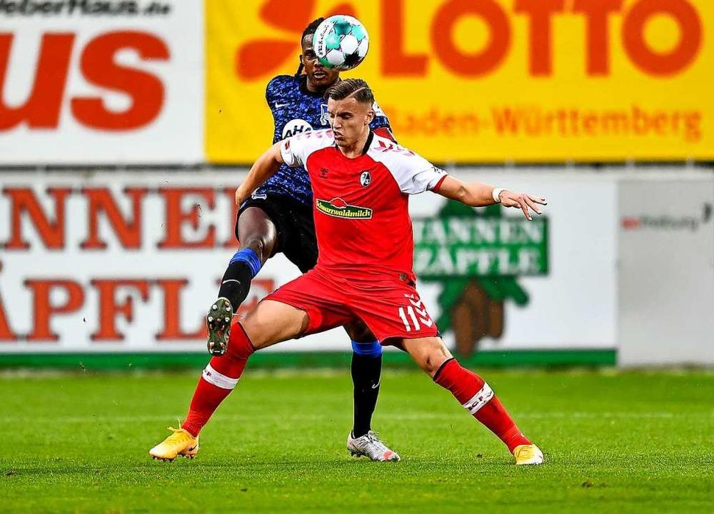 Ermedin Demirovic traf erstmals für den SC.    Foto: SC Freiburg/Achim Keller