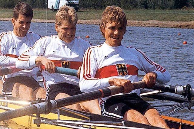 Als zwei Rheinfelder Ruderer Gold bei der WM 1985 holten