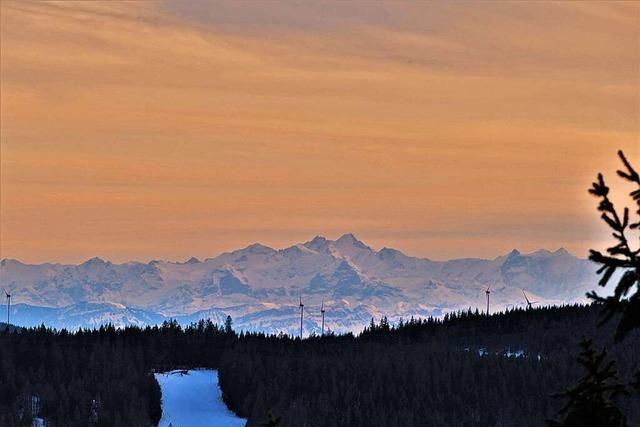 Prächtiger Alpenblick auf dem Schauinsland