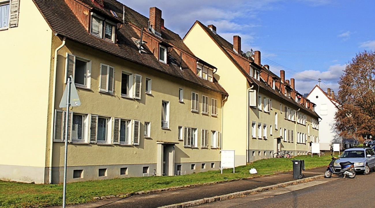 Den Wohnungsbau für Heimatvertriebene ...entstanden in der hinteren Breitmatt.     Foto: Hansjörg Bader