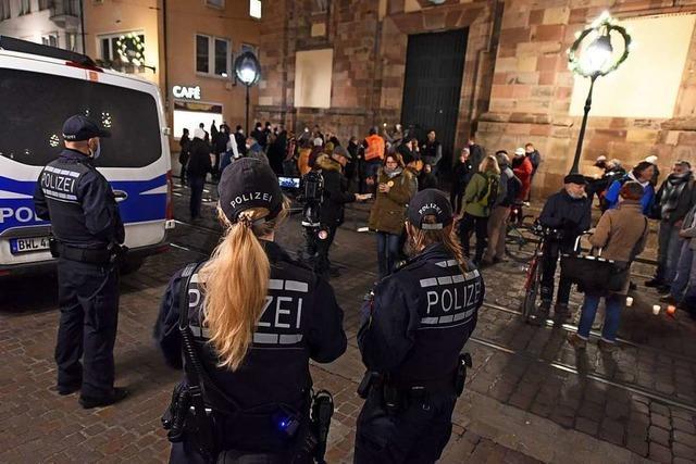 Verbotene Demo der Corona-Leugner in Freiburg hat ein Nachspiel