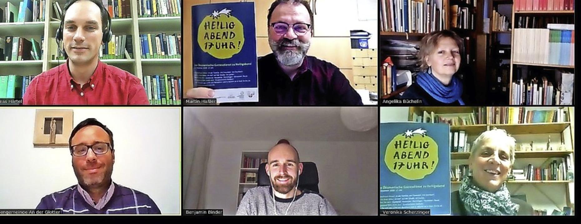Vertreter der Christlichen Kirchen ste...t in einer Online-Pressekonferenz vor.  | Foto: Screenshot privat