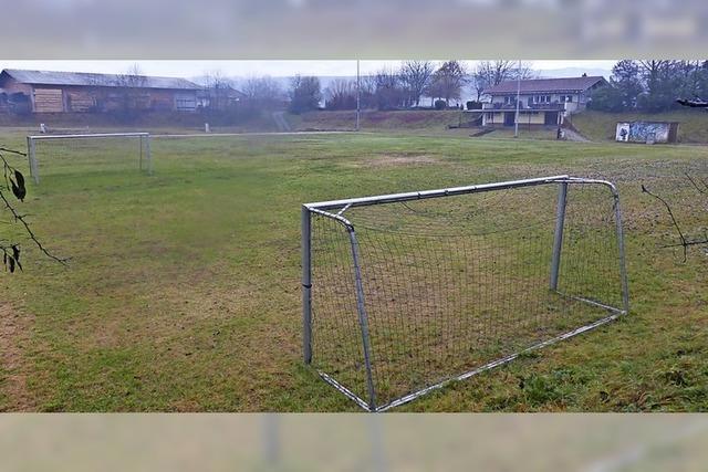Der alte Sportplatz soll drei Meter höher werden