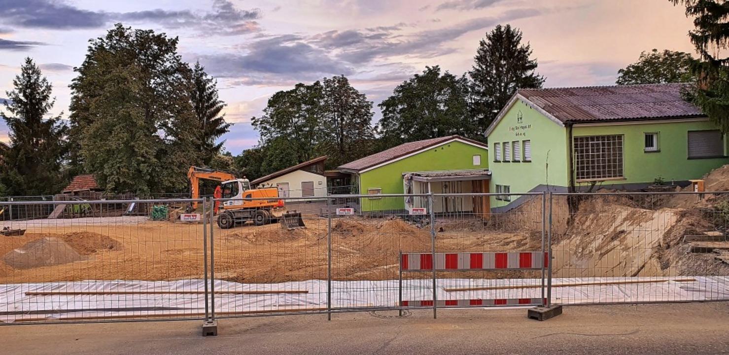 Ein Mammutprojekt, das sich auch im Ha...t: die Erweiterung der Kita Gehrenweg.    Foto: Julius Wilhelm Steckmeister