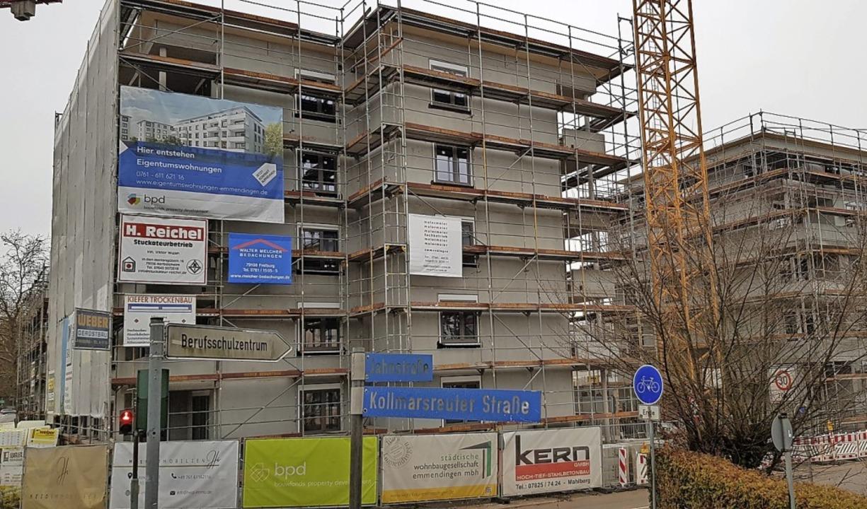Neue Sozialwohnungen entstehen an der Jahnstraße.  | Foto: Gerhard Walser