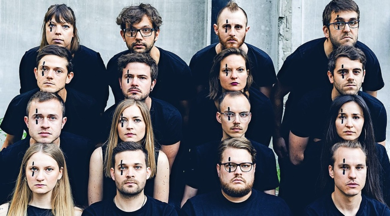 Offenburger Protagonisten: Marco Dufne...raun (untere Reihe, Zweiter von links)    Foto: Josy Triebel/Act
