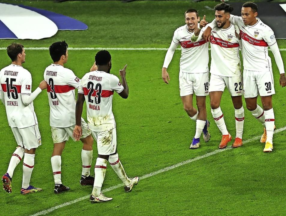 Die jungen Wilden des VfB Stuttgart ha...im bisherigen Saisonverlauf viel Spaß.  | Foto: Focke Strangmann (dpa)