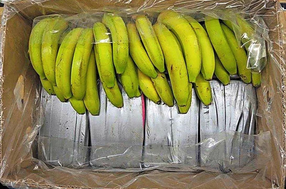 Das Kokain kam in Bananenkisten.    Foto: Landeskriminalamt Baden-Württem