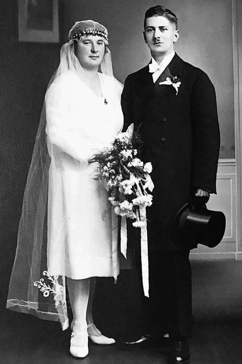 Hochzeitsfoto von Fritz Hagin und seiner Frau Ida aus dem Jahr 1929  | Foto: Privat