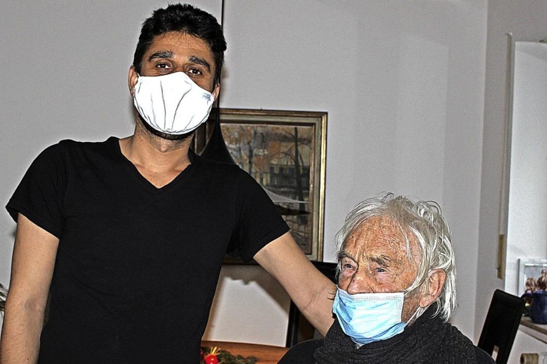 Hamed Taheri und Lorenz Goldschmidt (links)  | Foto: Caritas