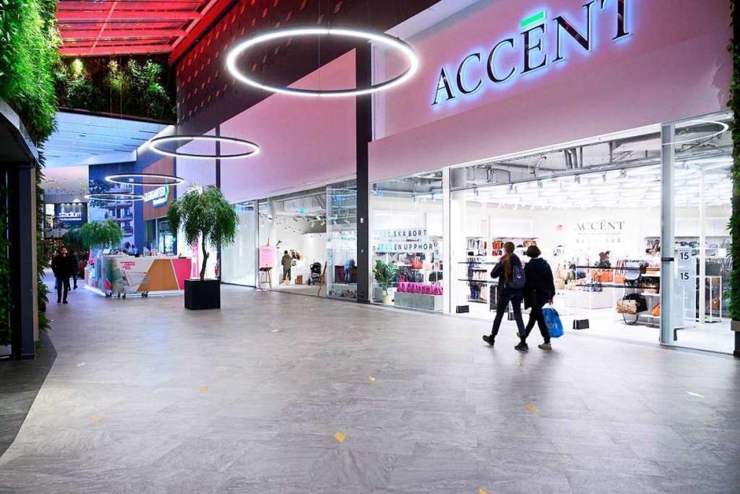 Leeres Shopping-Center im schwedischen Uppsala.  | Foto: HENRIK MONTGOMERY (AFP)