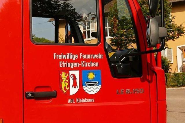 Die Feuerwehr Efringen-Kirchen will Weihnachtsfreude in die Gemeinde bringen