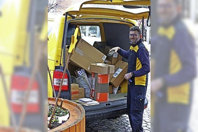 Postzusteller im Dauereinsatz