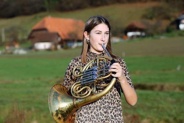 Hornistin Apollonia Meier aus Schuttertal hat sich ins Bundesjugendorchester gespielt