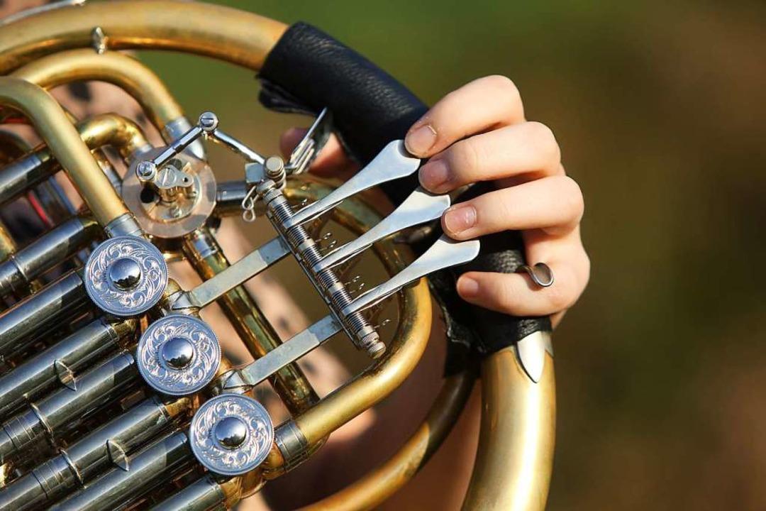 Üben, üben, üben mit dem Horn  | Foto: Christoph Breithaupt