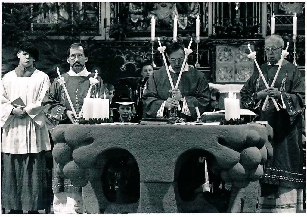 Bläsifest 1991: Pfarrer Franz Gluitz s...farrer Hoch, der vom Flammhof stammte.  | Foto: Christian Ringwald