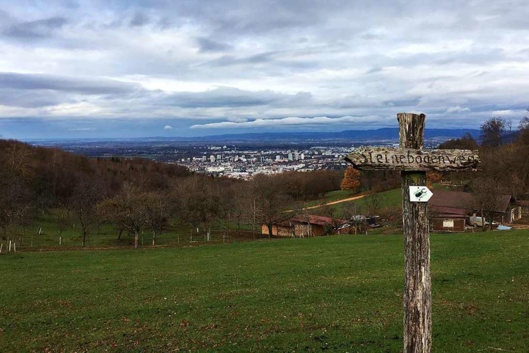 Tolle Ausblicke inklusive: Sicht auf F... Schönberghof auf der dritten Strecke.  | Foto: Matthias Kaufhold