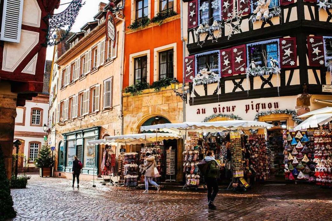 Weihnachtsshopping in der Altstadt von Colmar     Foto: Philipp von Ditfurth