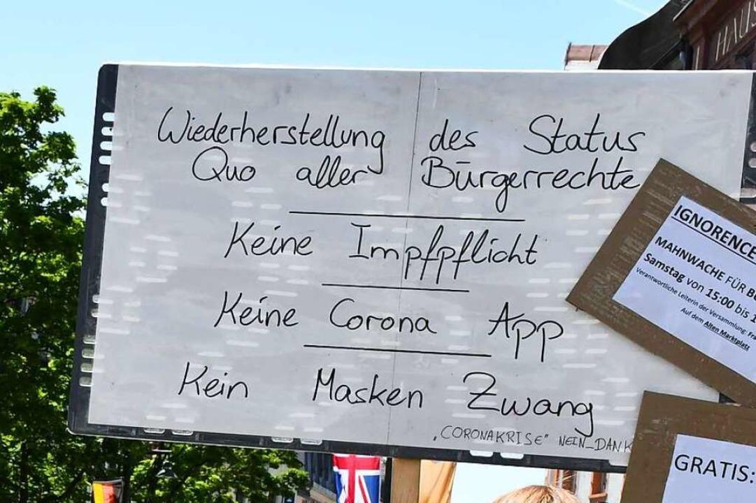Corona-Protest in Lörrach  | Foto: Barbara Ruda