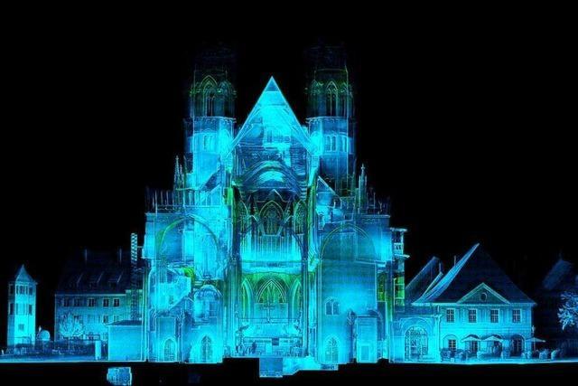 Das Freiburger Münster ist mit einem Laserscanner vermessen worden