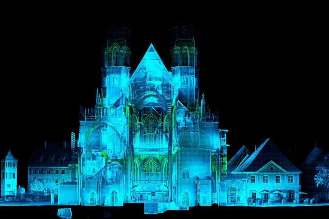 Sieht fast aus wie eine Röntgenaufnahm... 3D-Scan im Münster in Richtung Altar.    Foto: Nicolas Trusch