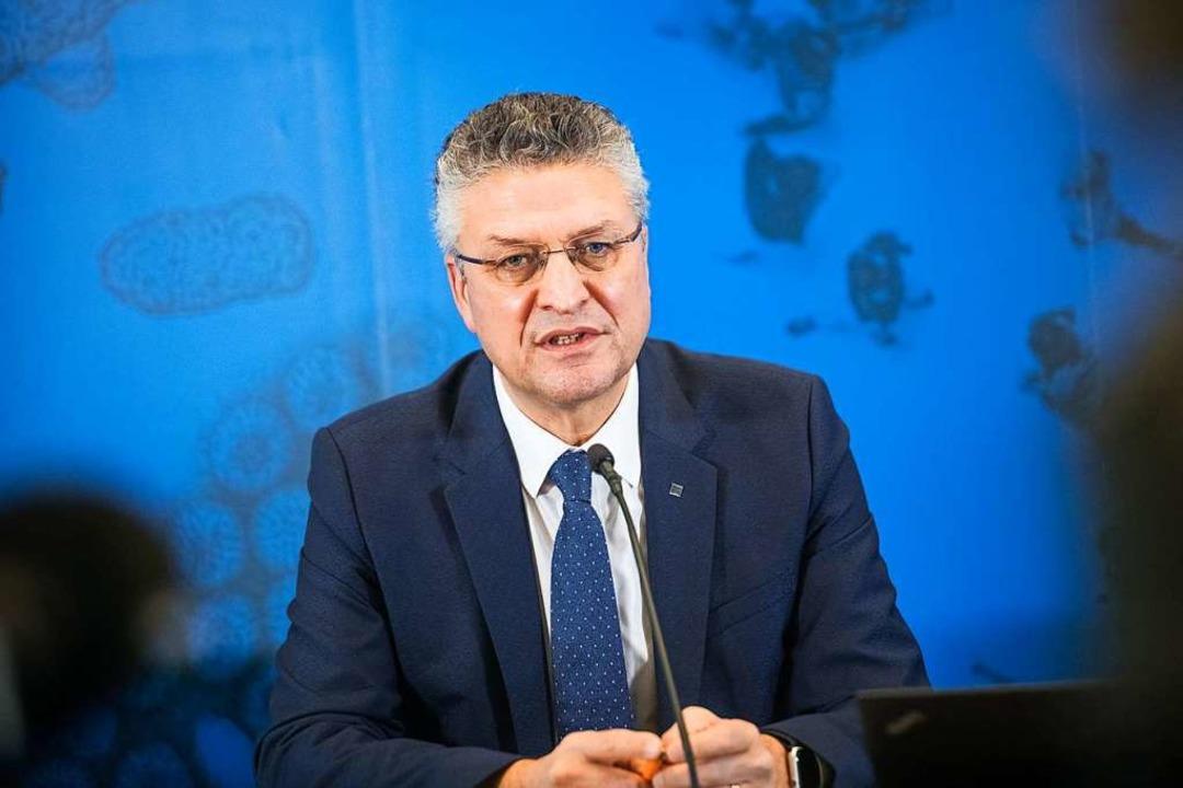 Lothar Wieler, Präsident Robert Koch-Institut (RKI)  | Foto: Stefanie Loos (dpa)