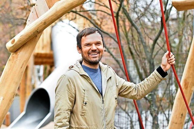 Christoph Daub ist der Mann für den Mitmach-Schulhof