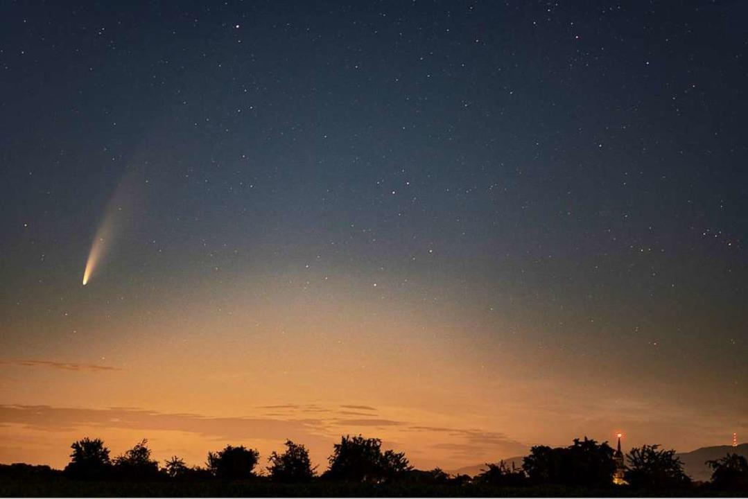 So könnte der Stern von Bethlehem ausg...nnenaufgang bei Hugsweier aufgenommen.  | Foto: Michael Kube