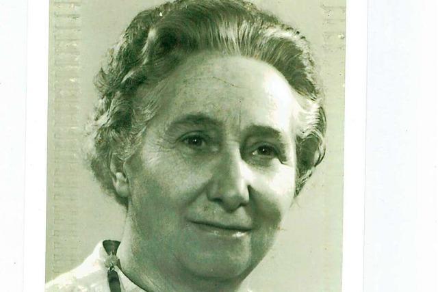 Emilie Bäckert war das bescheidene Gesicht der AWO in Rheinfelden