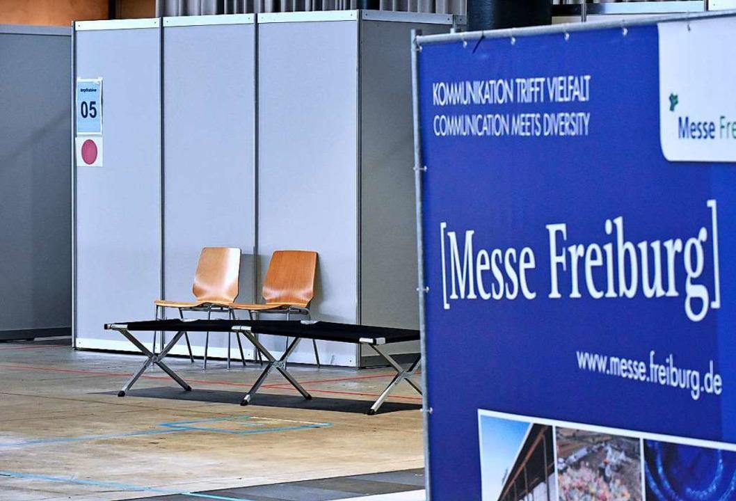 Auf der Messe ist alles bereit: Das Ze...fzentrum startet am Sonntagnachmittag.    Foto: Michael Bamberger