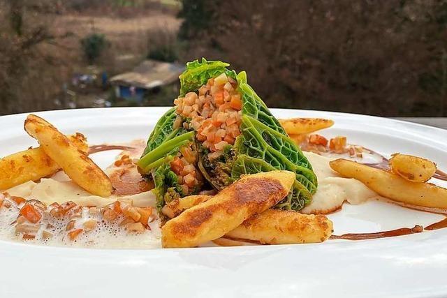 Ein vegetarisches Gericht für den Silvesterabend