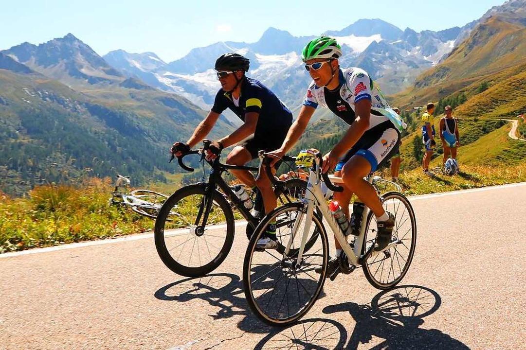 Zehn Kilometer Seite an Seite das  Tim...lige Tour-de-France-Sieger Jan Ullrich    Foto: zvg