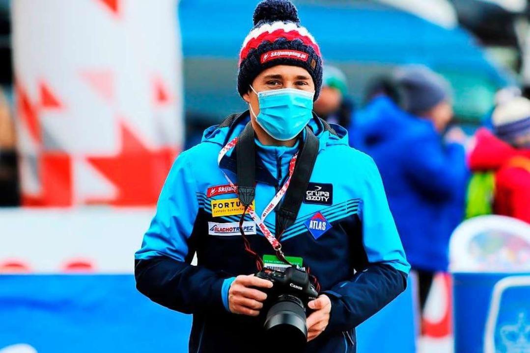 Der polnische Online-Reporter Tadeusz ...211; und jetzt wieder von der Tournee.  | Foto: privat